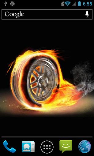 Fiery wheel live paper