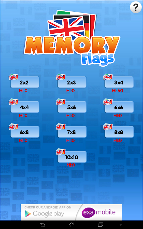 Memory Flags Games- screenshot