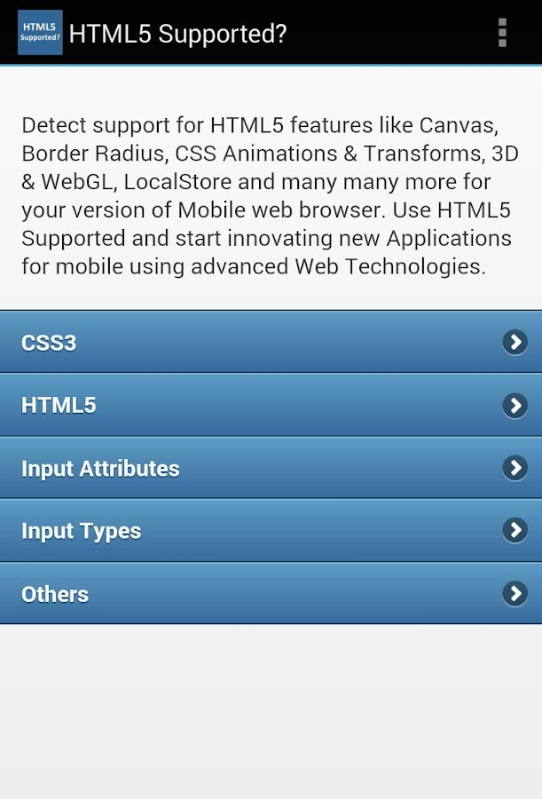 HTML5 Supported? - screenshot