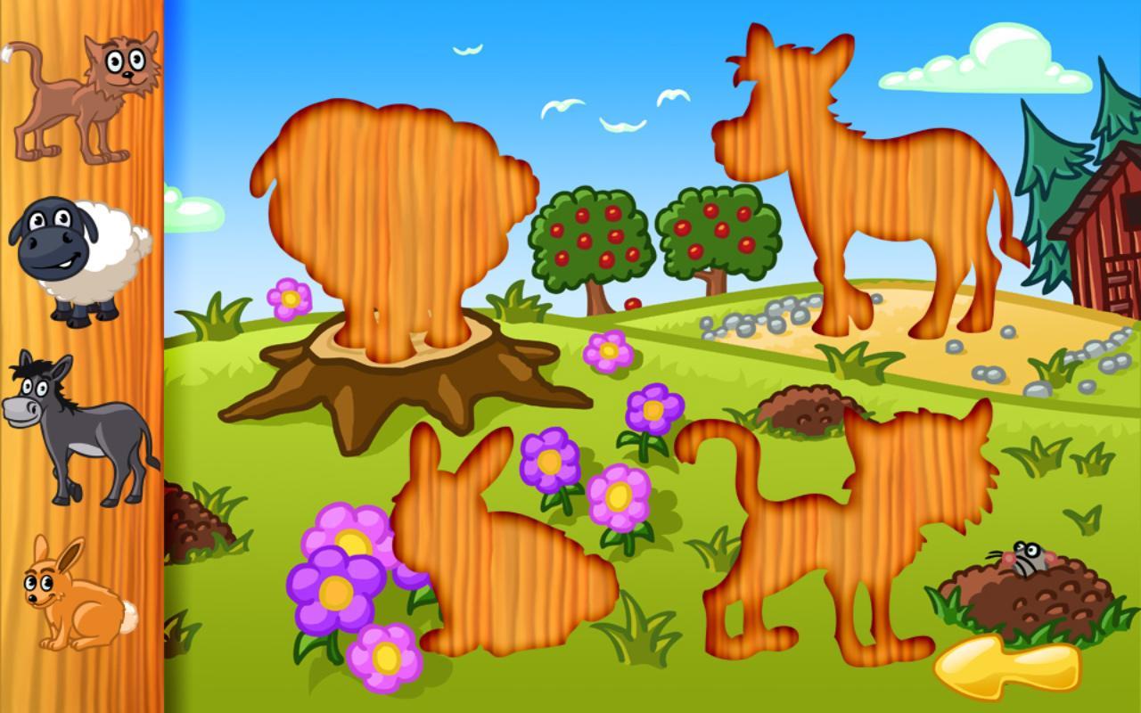 Gran rompecabezas de animales: captura de pantalla