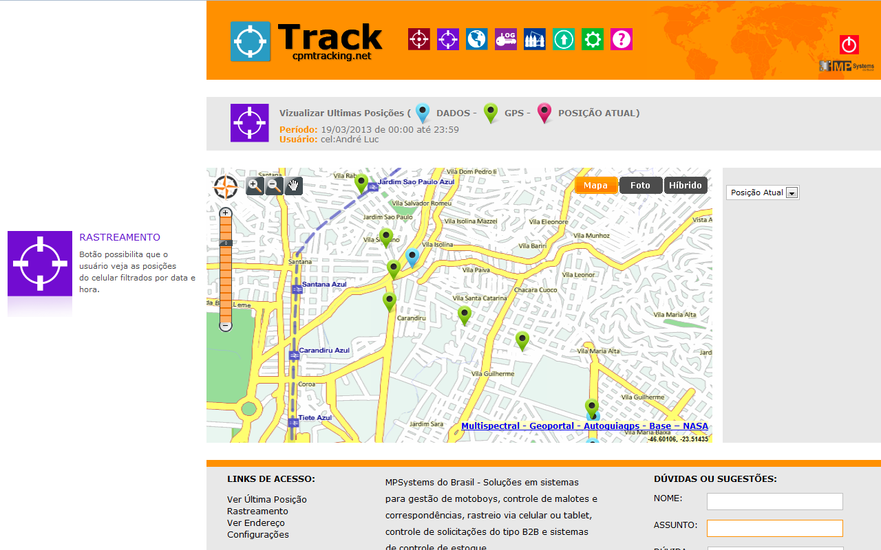 Track - Rastreamento Celular - screenshot
