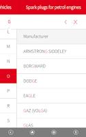 Screenshot of NGK EU Product finder
