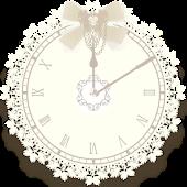 フェミニン☆大人カワイイアラーム時計ウィジェット