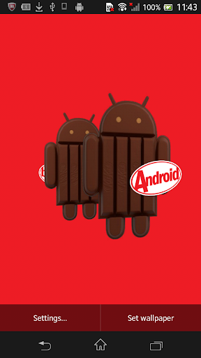 KitKat 3D Live Wallpaper