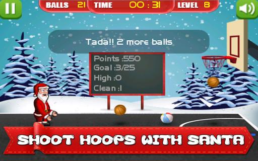 玩體育競技App|サンタクリスマスバスケットボールの楽しみ免費|APP試玩