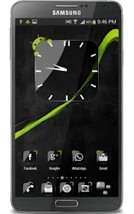 Crystal Black Clock Widget- screenshot thumbnail