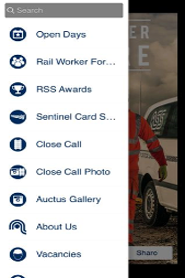 RAIL SAFETY SOLUTIONS APP- screenshot