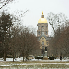 Golden dome by Lisa James - Buildings & Architecture Statues & Monuments ( notre dame indiana )