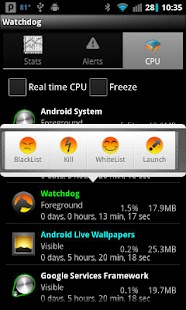 Watchdog Task Manager Lite - screenshot thumbnail