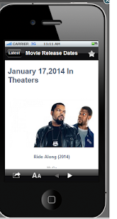Movie Release Dates World - screenshot thumbnail