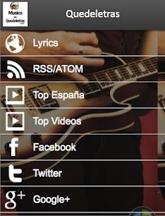 Letras de Canciones de Música- screenshot thumbnail