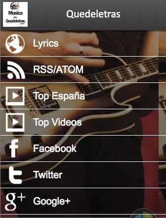 Letras de Canciones de Música - screenshot