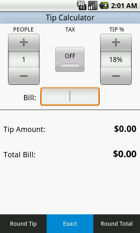 Tip Calculator - screenshot
