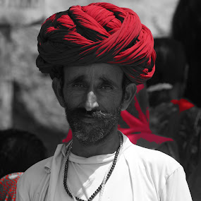 by Tejaswa Trivedi - People Portraits of Men ( red, green )