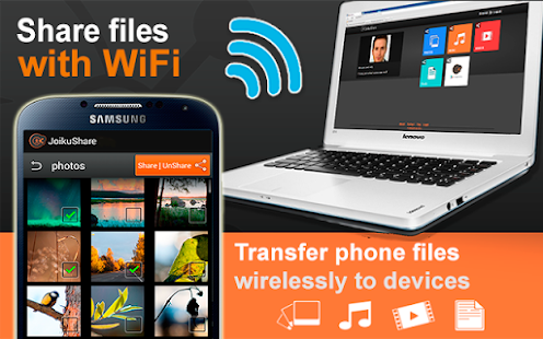 JoikuShare: WiFi File Share- screenshot thumbnail
