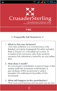 CrusaderSterling Pensions- screenshot thumbnail