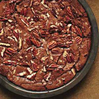 Fudgy Pecan Brownie Pie