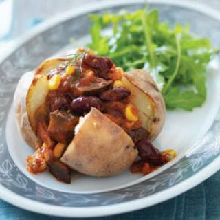 Baked Potatoes with Bean Salsa Recipe