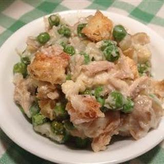 Chicken and Peas Au Gratin Casserole