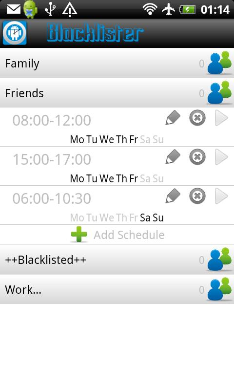 Blacklister Free- screenshot