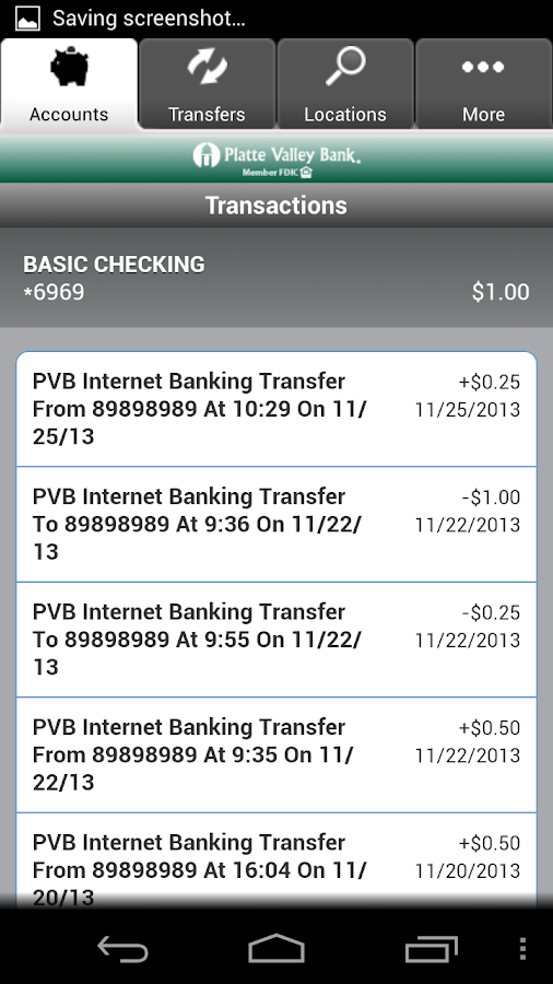 PVB Mobile Banking - screenshot