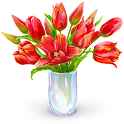 Draw name with flowers 2017 icon