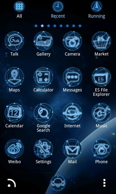 Universe GO LauncherEX Theme - screenshot