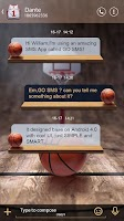 Screenshot of GO SMS PRO DUNK THEME