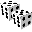 Two Dice: Simple free 3D dice icon
