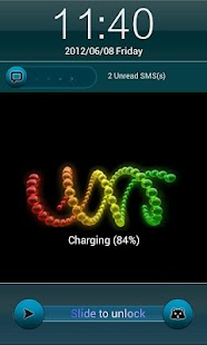 玩娛樂App|海綠色的iPhone鎖屏免費|APP試玩