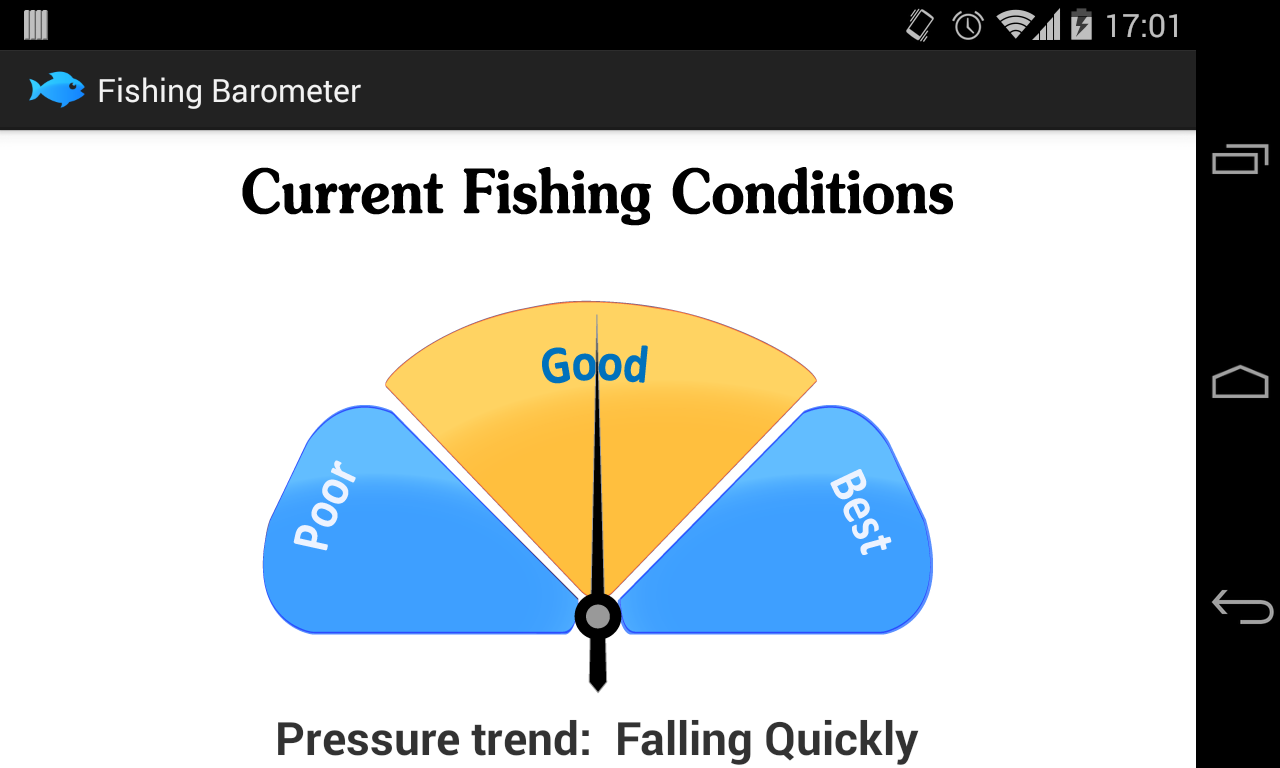 Fishing barometer android apps on google play for Barometric pressure forecast for fishing