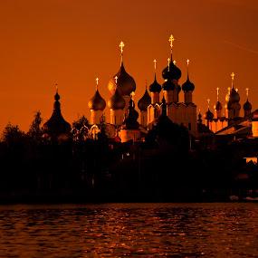 Rostov the Great by Dmitry Samsonov - Buildings & Architecture Places of Worship ( rostov, rostov the great, lake, golden ring, nero, yaroslavl region,  )