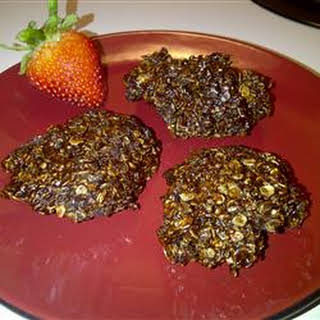 Unbaked Chocolate Oatmeal Cookies.