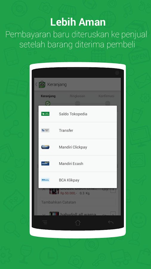 Tokopedia Online Shopping Mall - screenshot