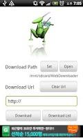 Screenshot of WebDownloader