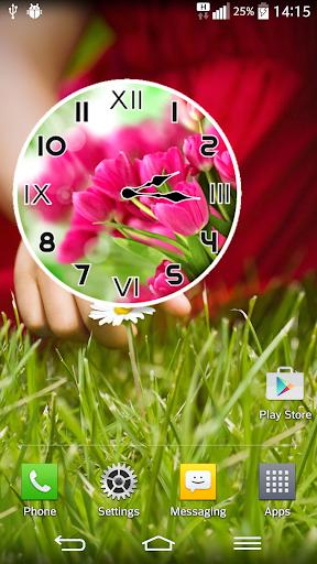 粉紅色的 鬱金香 模擬時鐘