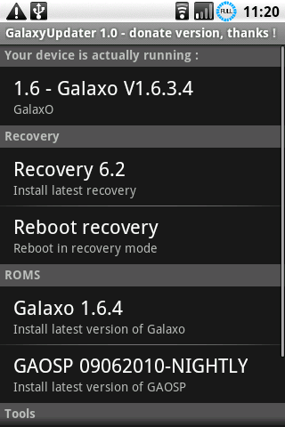 GalaxyUpdater Full- screenshot