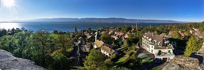 Lac Leman depuis Hermance en suisse
