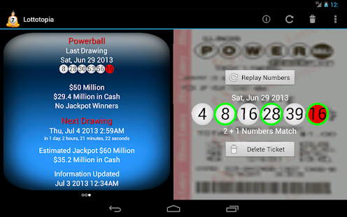 Lottery Results Ticket Checker - screenshot thumbnail
