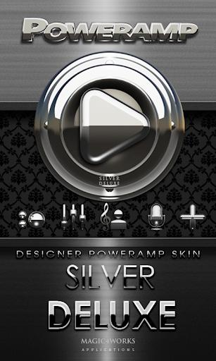 Poweramp skin Silver Deluxe