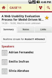 CAiSE'11- screenshot thumbnail