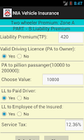 Screenshot of Vehicle Insurance Calculator