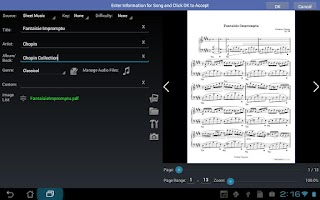 Screenshot of MobileSheets Music Reader