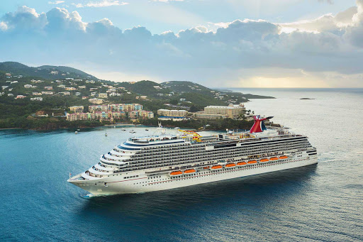Carnival-Breeze-in-St-Thomas - Enjoy gorgeous skies and azure seas when you sail to St. Thomas with Carnival Breeze.