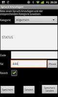 Screenshot of SMS Template