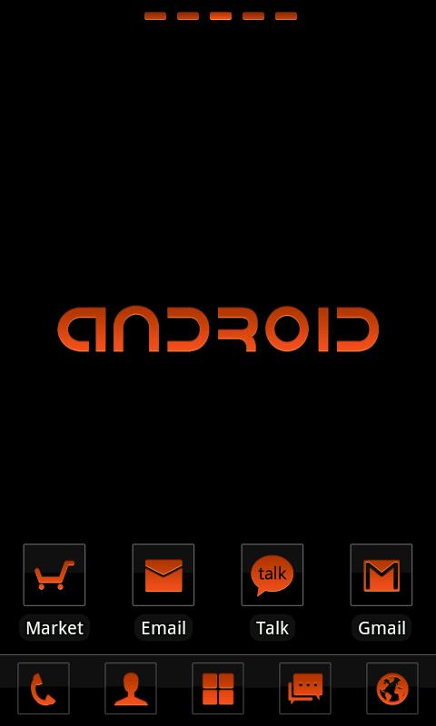 Clear Orange Theme GO Launcher - screenshot