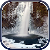 Winter Waterfalls Wallpaper