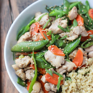 30-Minute Sesame Chicken Quinoa Bowl