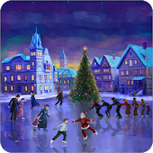 Christmas Rink Live Wallpaper