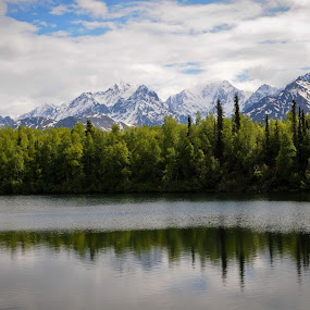 Beauty of Alaska by Desiree DeLeeuw - Landscapes Mountains & Hills ( water, mountains, alaska, reflections, beauty, , relax, tranquil, relaxing, tranquility )